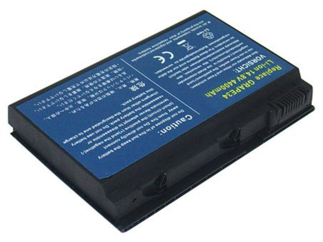 АКБ ACER Extensa 5220 5620 7220 7620 TravelMate 5320 5520 5530 GRAPE32 4400 mAh (D-1-1)